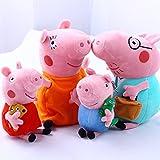 "4Pcs Family Plush Doll Stuffed Toy 12"" DADDY MOMMY 8"" PEPPA GEORGE - Bundle/Bulk Buy"