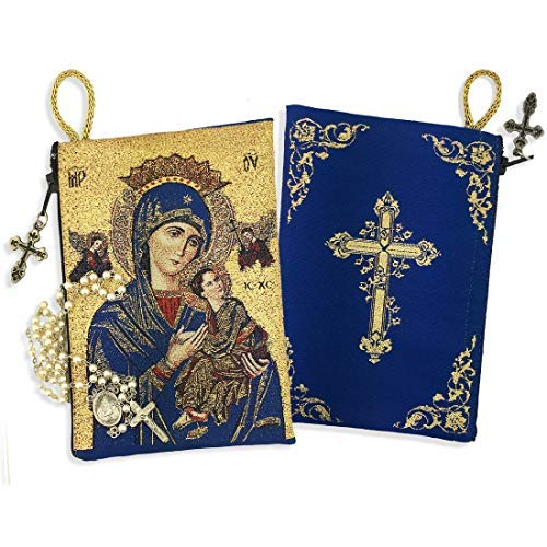 Inspire Nation Our Lady of Perpetual Help Rosary Pouch Religious Icon 5 inches