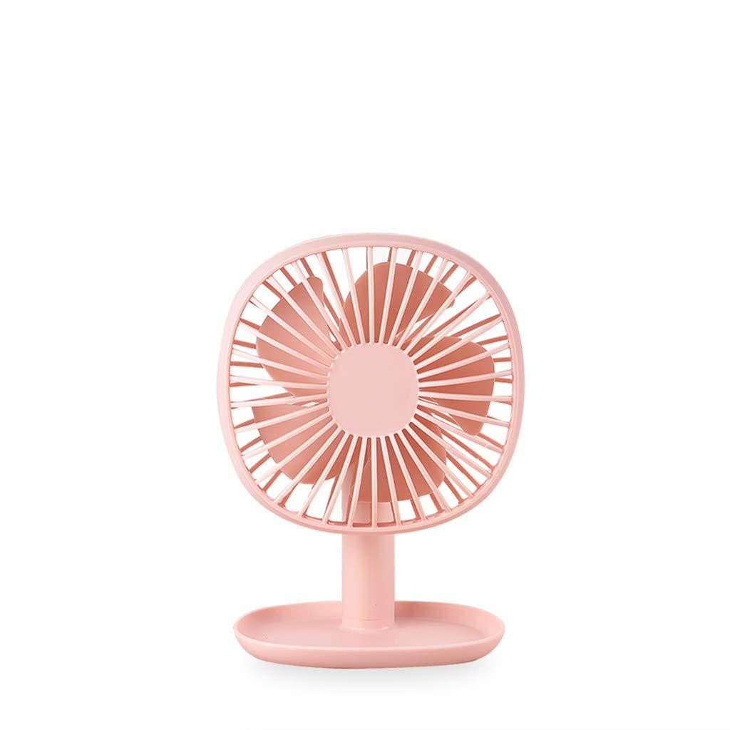 pathside Mini Electric Fan Rechargeable Portable USB Powered Fan Desktop Fan Mini Fan (Pink) by pathside (Image #1)