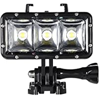 Andoer 3pcs LEDs Fill-in Light Diving Video Light Mini Spotlight Waterproof Underwater 30M Light Built-in Rechargeable Battery for GoPro Hero SJCAM Xiaomi Yi Sports Action Camera
