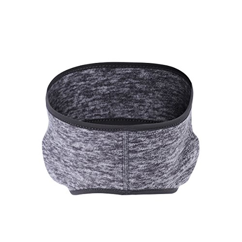 Runtlly Sports Headbands Wicking Stretchy Head Wrap Ideal for Yoga/Cycling/Running /Fitness Exercise Head Sarf Pullover for Women and Men Gray