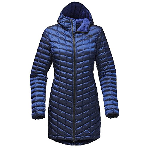 Hand Embroidered Ski (The North Face Women's Thermoball Parka II - Brit Blue - S (Past Season))