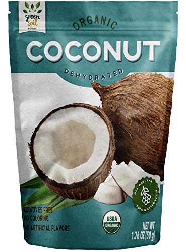 - GREEN SOIL FOODS, 100% Organic Dried Fruit, Coconut, 3 pack (1.76 oz each)