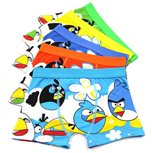 2-8 Years Old Boys Angry Birds Boxer Briefs Cotton Underwear for Toddler 5 Pack for $<!--$22.99-->