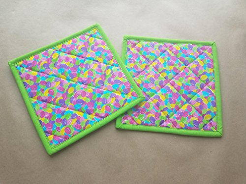 Jelly Bean Potholders Set of 2, Easter, Spring, Confectioner