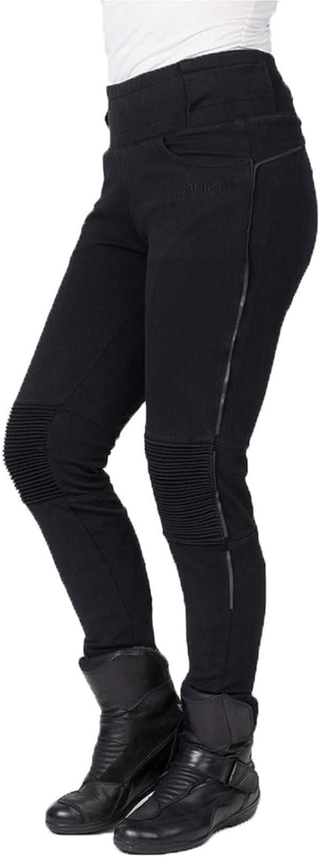 Eu 42 // Us 10, Negro Long Negro Bull-It Pantal/ón Moto Mujer Envy Leggings