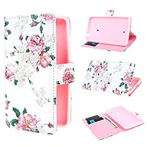 Leathlux Flower Design Wallet PU Leather Stand Flip Case Cover for Nokia Lumia 625