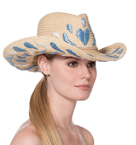 Eric Javits Luxury Fashion Designer Women's Headwear Hat - Corsica - Flax Mix by Eric Javits