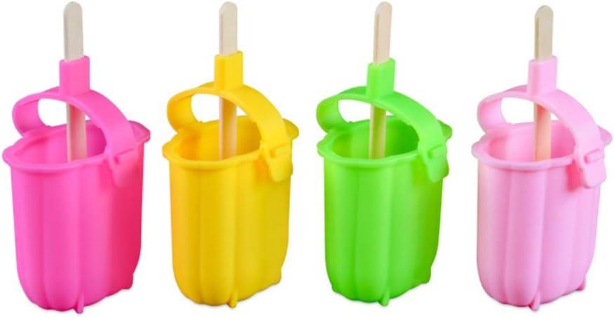 RoseFlower Moules /à Glace en Silicone Maker Popsicle Molds Frozen Ice Cream Maison Cuisine Outils Dessert Congel/é Popsicle