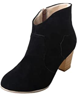Minetom Mujeres Otoño Invierno Botines Chelsea Tacón Alto Tobillo Botas Señoras Plataforma Zapatos Altos Talones…