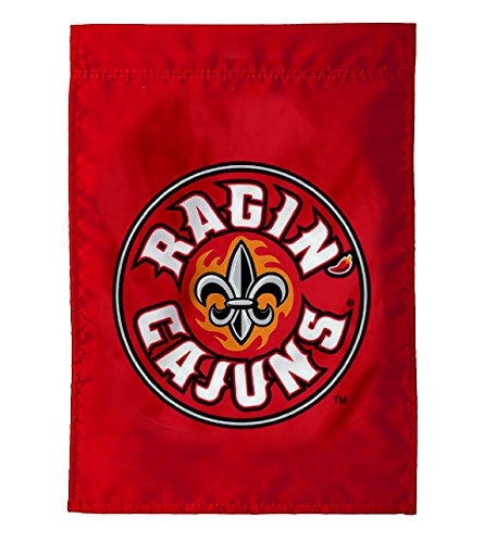 Evergreen NCAA Applique Garden Flag (Louisiana Lafayette Ragin' Cajuns) (Outdoor Hanging Lafayette)