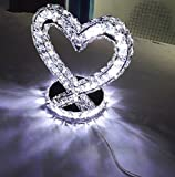 Simple Heart-Shaped Fashion Lamp Bedroom Night Table Lamp Wedding Gifts Wedding Table Lamp Bedside Lamp, LED White Light (energy class A +)