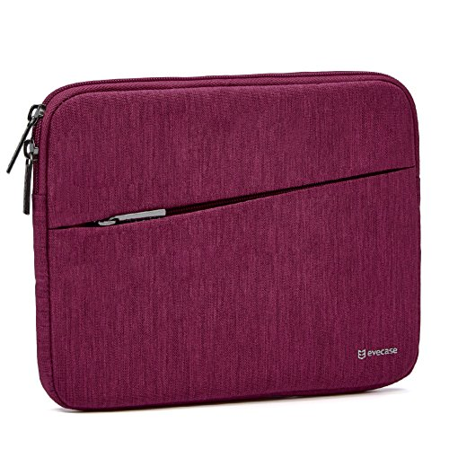 Dimensions Wine Case (iPad Mini 4 sleeve, Evecase Water Repellent Shockproof Portable Carrying Protective Case Bag with Accessory Pocket For iPad Mini 4, 3, 2 / Android 7 - 8 inch Tablet Device - Wine Red)