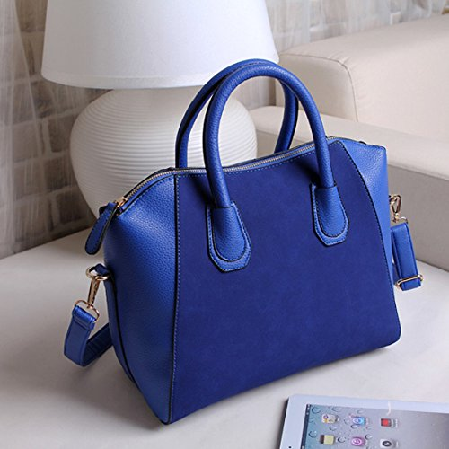 PU Blue Bags Bag Fashion Frosted Women Purse Leather Handbag Blue Vktech Shoulder Tote x4CnI