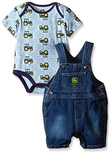 John Deere Baby Boys' Blue Tractors Overall Set