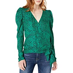 Parker Women's Arya Puff Sleeve Wrap Blouse