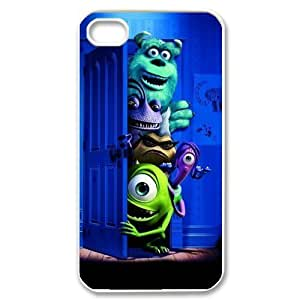 Custom Your Own Sully & Mike Wazowski Monster Inc iPhone 4/4S Case , personalised Sully & Mike Wazowski Iphone 4 Cover