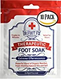 10 Pack Dr Foot Fix Therapeutic Foot Soak with All Natural Tea Tree, Peppermint & Birch Oil. Helps Soak Toenail Fungus, Athletes Foot & Stubborn Foot Odor - Soothes Feet - Tingles for Hours (10)
