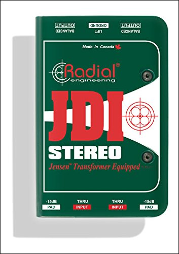 Radial JDI Stereo - Jensen Equipped 2-channel Passive Instrument Direct Box by Radial