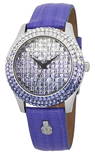 Burgmeister Women's ' Quartz Stainless Steel and Leather Casual Watch, Color:Purple (Model: BMY01-144C)