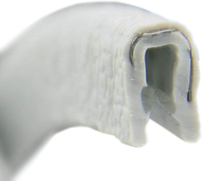 PVC Gummi Klemmprofil Kantenschutz 30 m KS0-1S Kantenschutzprofil von SMI-Kantenschutzprofi selbstklemmend ohne Kleber Klemmbereich 0-1 mm Schwarz einfache Montage