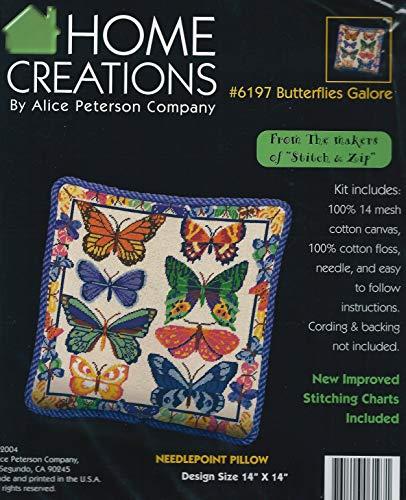 (Butterflies Galore Pillow - Needlepoint Kit )