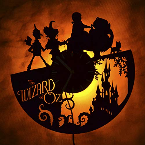 (The Wizard of Oz Gift Led Light Vinyl Record Wall Clock - Get Unique Bedroom or livingroom Wall Decor - Gift Ideas for Boys and Girls Perfect Element of The Interior Unique Modern Art)