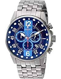 Men's Messina Quartz Watch with Stainless-Steel Strap, Silver, 14 (Model: RB70983)