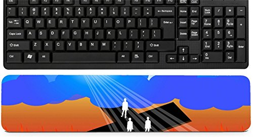 Liili Keyboard Wrist Rest Pad Long Extended Arm Supported Mousepad IMAGE ID: 21811489 Road to salvation ()