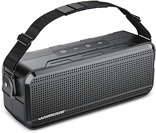 [Upgraded] WIMUUE 40W Bluetooth Speaker Loud Wireless Portable Speaker with Built-in 8000mAh Power Bank – IPX6 Waterproof Outdoor or Indoor Speakers with TF Card Slot, TWS, Equalizer, 3.5mm Aux