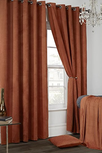 Rado Waffle Thermal Ring Top Black Out Curtains Orange Blackout 90x90quot 230x230 Cm