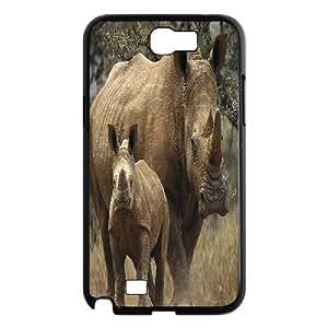 ALICASE Diy Design Back Case Rhinoceros for Samsung Galaxy Note 2 N7100 [Pattern-1] Kimberly Kurzendoerfer