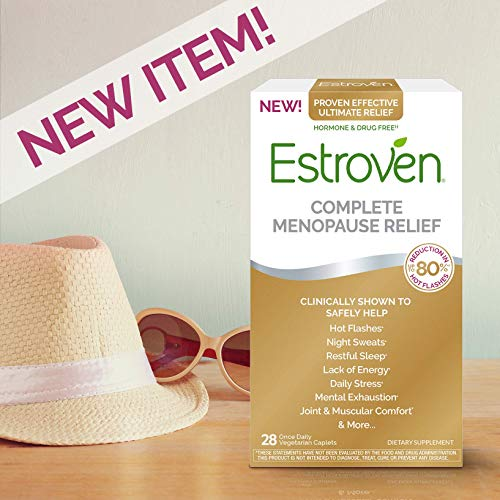 Estroven Complete Menopause Relief | All-in-One Menopause Relief* | Safe and Effective | Reduce Multiple Menopause Symptoms*1 | Reduces Hot Flashes and Night Sweats* | One Per Day | 28 Count (Best Time Of Day To Take Estroven Weight Management)