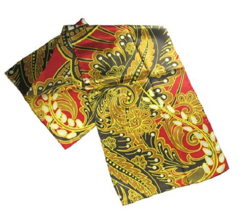 Paisley & Pods w/Red - Pangborn Design Scarf -