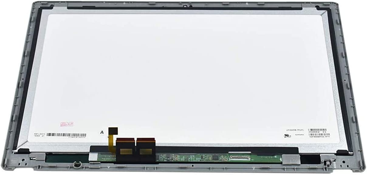 "15.6"" HD 1366x768 LCD Panel Replacement LED Screen Display with Touch Digitizer and Bezel Frame Assembly fit Acer Aspire V5-571P-6642 MS2361 B156XTN03.1"