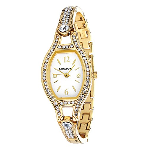 MICRON Analogue Women's Watch (Gold Dial Golden Colored Strap) (B00TCLC1IM) Amazon Price History, Amazon Price Tracker