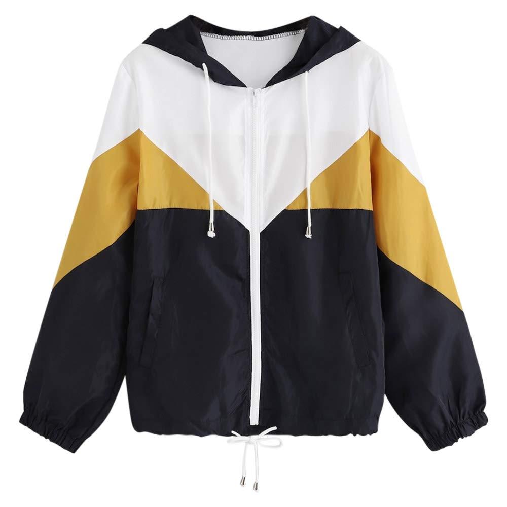 Ladies Between-Seasons Jacket Hooded Quilted with Hood Colourblocking
