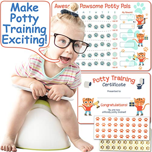 Potty Training Chart for Girls & Boys: Tiger Themed Reward Chart with Stickers ()