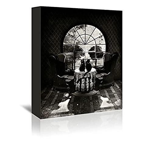 Americanflat room skull bw gallery wrapped canvas artwork by ali gulec 16quot