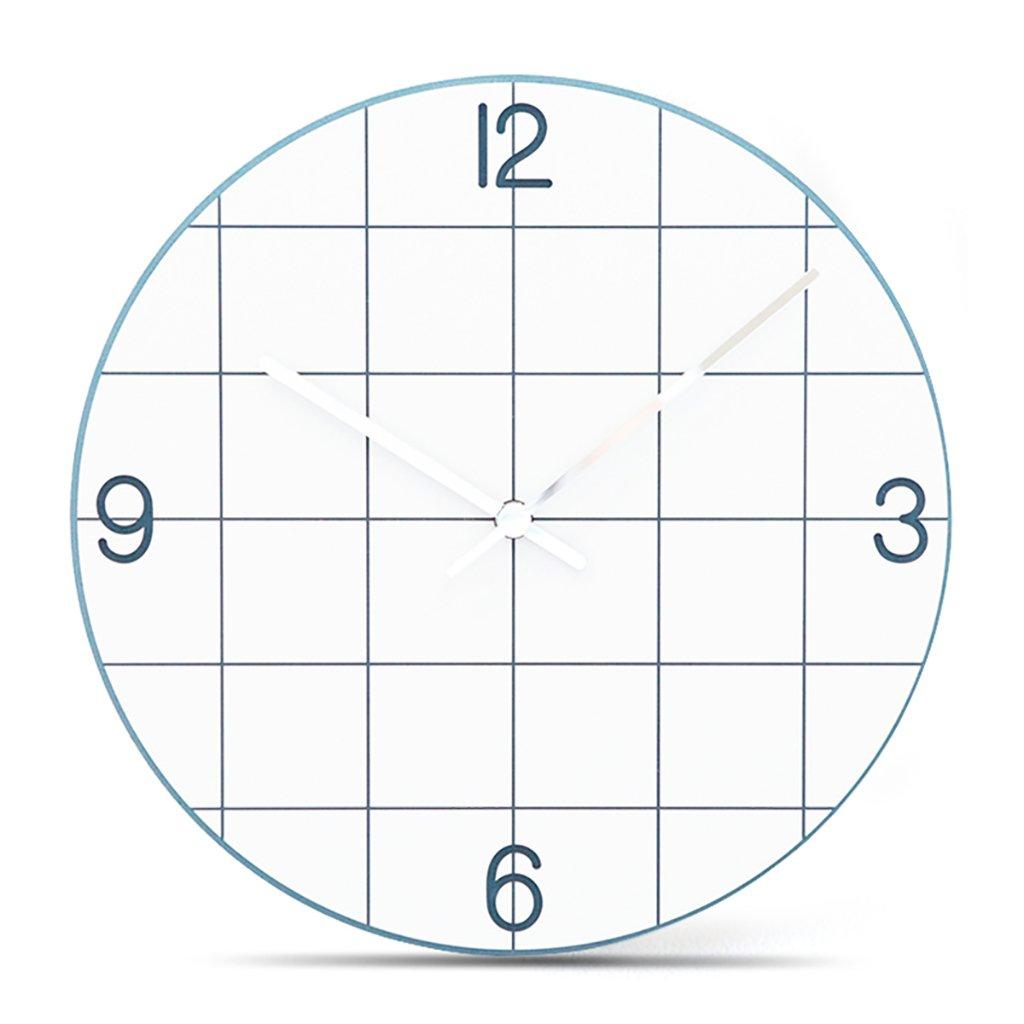 サイレントスイープの壁時計、現代のシンプルな時計ローマ数字12インチのMDF材料のリビングルームとベッドルーム,C B07D6M75LS C C