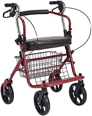 JQXB Carro Compra, Andador para Ancianos, Plegable, Frenos en ...