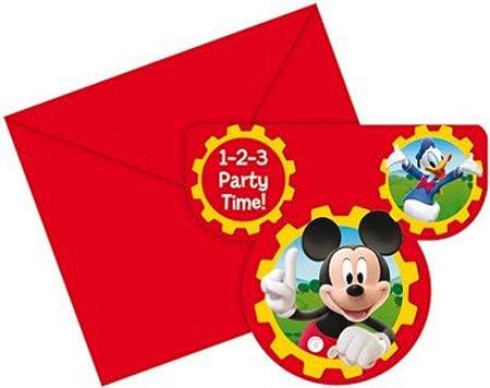 Amscan Tarjetas De Invitación Con Diseño De Mickey Mouse
