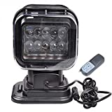 7inch 50W CREE Led Searching Work Light Camping Lamp Rotating Spotlight With Remote Control