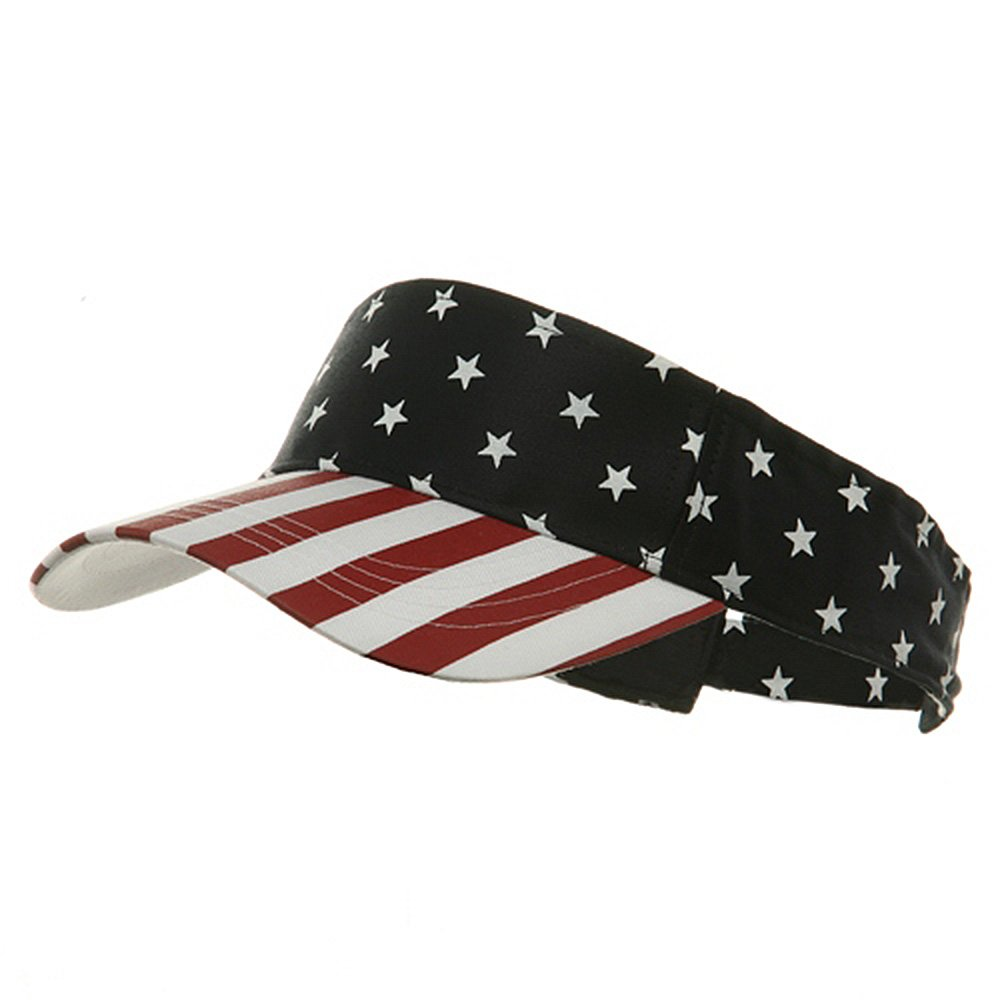USA Flag Visor-USA Star Stripe fgee894vc-White-osfm