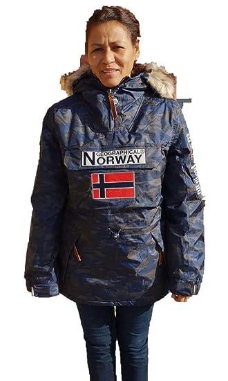 Geographical Norway Chaqueta de Nieve para la Mujer de Color camuflage Azul (2)
