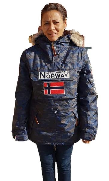 Geographical Norway Chaqueta de Nieve para la Mujer de Color camuflage Azul