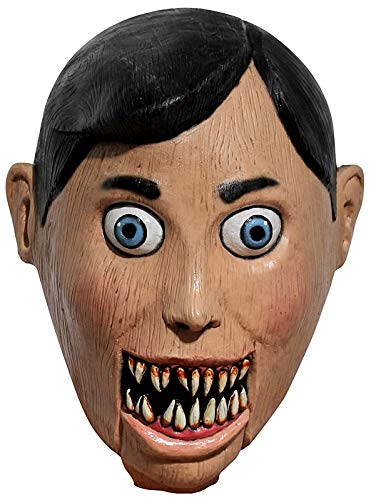 Ghoulish Productions Evil Puppet Adult Latex Mask Creepy Scary Wooden Marionette Halloween Accessory for $<!--$19.99-->