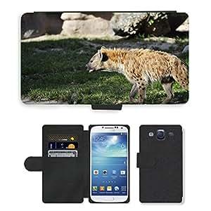 Hot Style Cell Phone Card Slot PU Leather Wallet Case // M00114331 Hyena Animal Tanzania Lion King Dog // Samsung Galaxy S3 S III SIII i9300