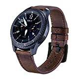 iBazal Gear S3 22mm Watch Band, Genuien Leather Band 22mm...