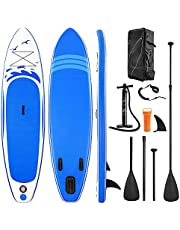 Paddle Board Inflatable SUP W Stand-up Paddle Board Accessories Backpack Paddle Leash Pump Non-Slip Deck ISUP Fishing Yoga Rigid Solid 10'× 30'' ×6'' Thick Adult & Youth & Kid